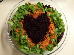 Our 100% home-grown heart beat salad.