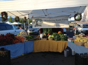 One of the many farmers market booths we did this season.